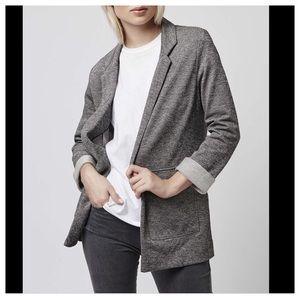 TOPSHOP Herringbone Boyfriend Jacket Size 6